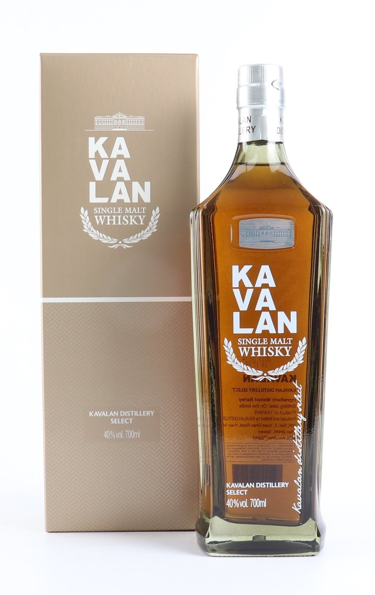 Kavalan Distillery Select Whisky (with 1 pc Kavalan Glass - Stock subject to remaining unsold)