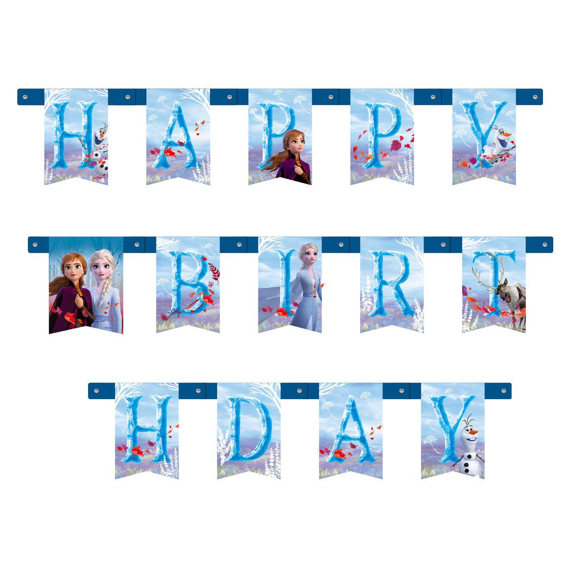 Frozen II - Birthday banner [Licensed by Disney]