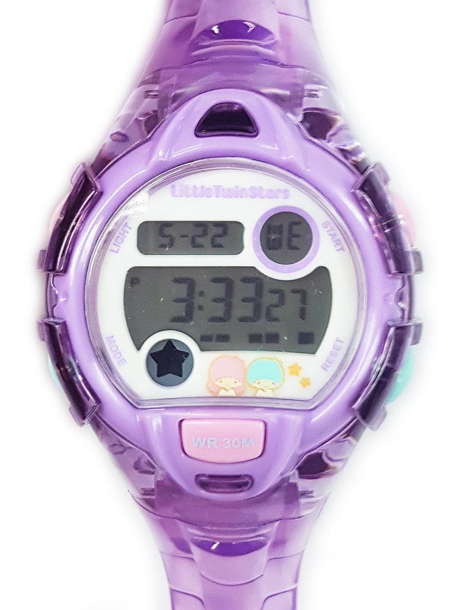 SANRIO - Little Twin Stars 電子手錶 (紫色)