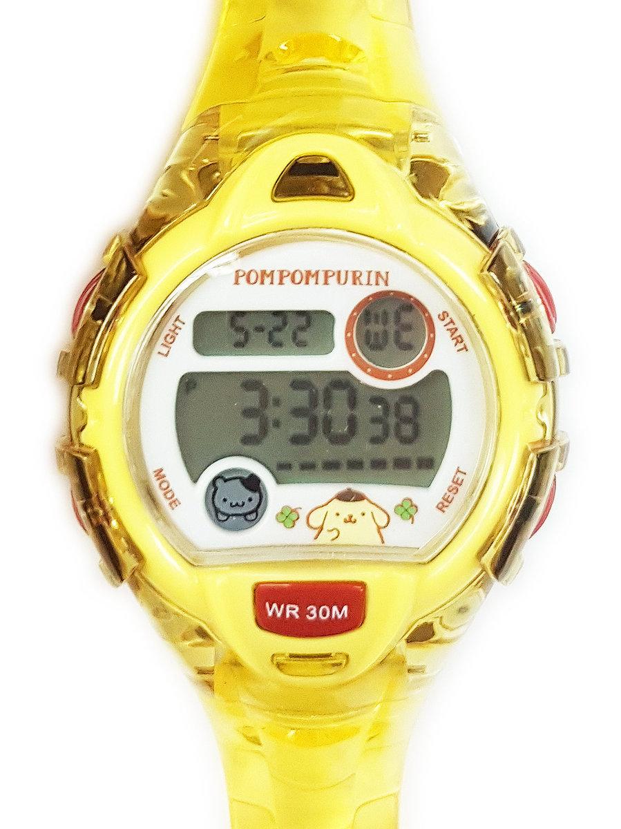SANRIO - Pompompurin digital watch (Yellow)