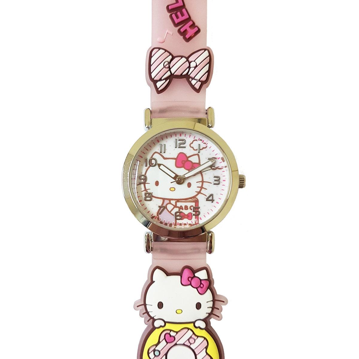 SANRIO - Hello Kitty 2D band quartz watch (Pink)