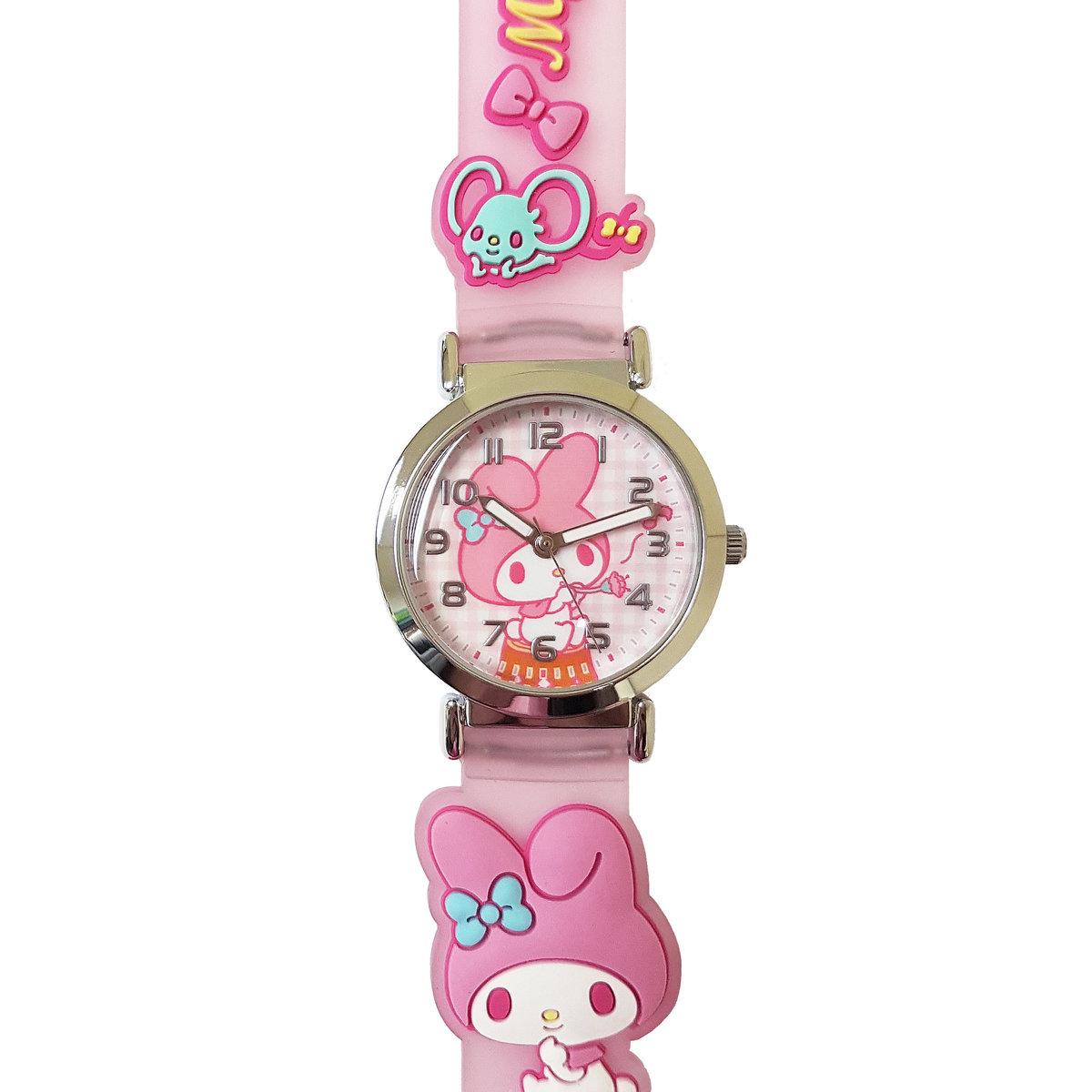 SANRIO - My Melody 2D band quartz watch (Pink)