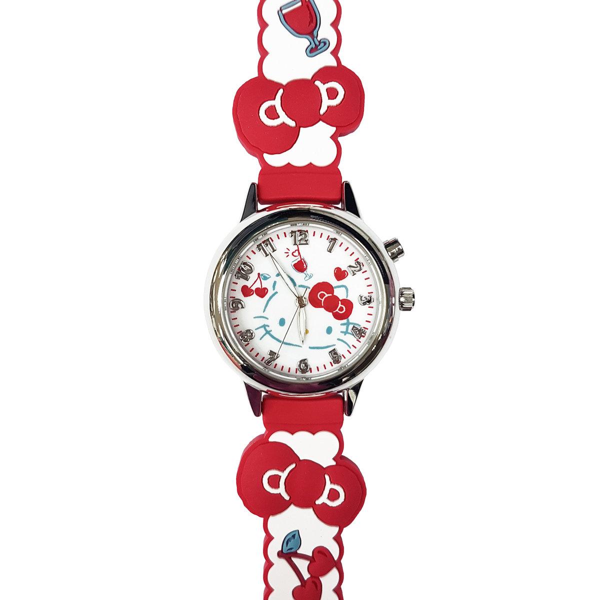SANRIO - Hello Kitty light up quartz watch (Red)