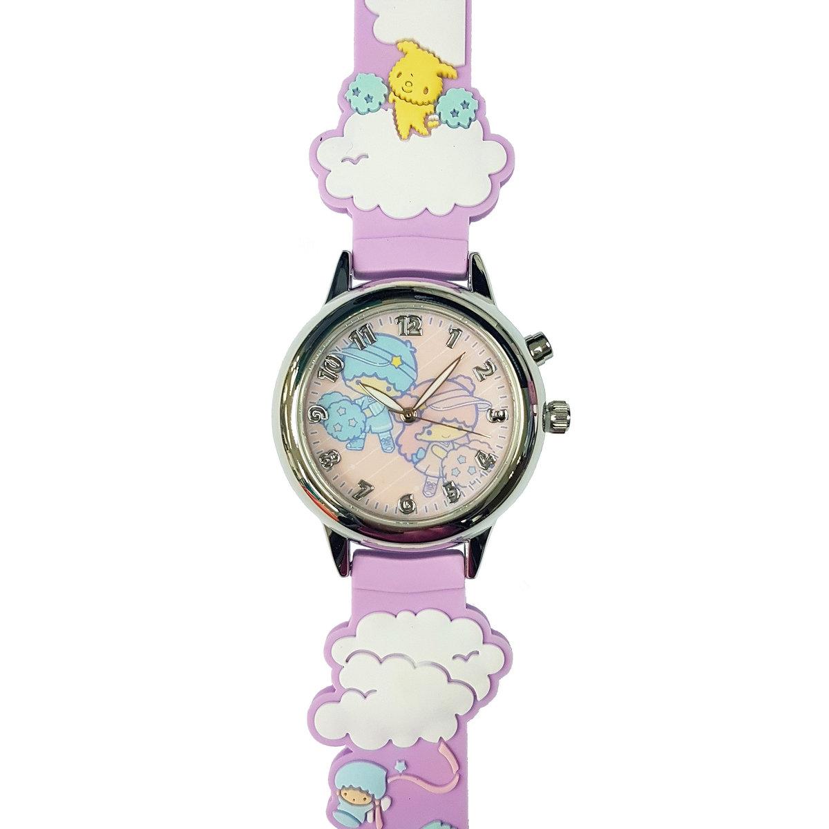SANRIO - Little Twin Stars light up quartz watch (Purple)