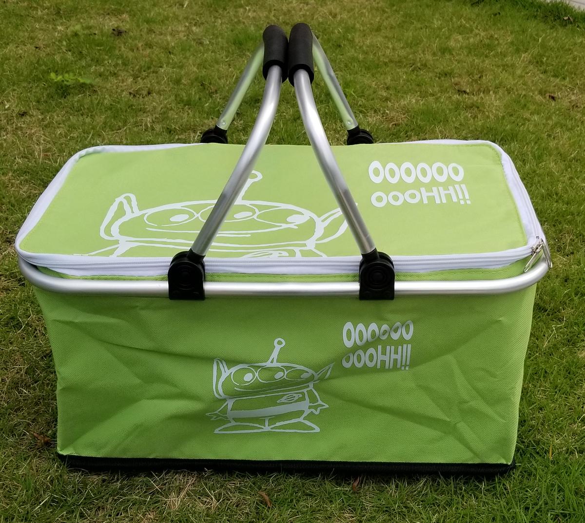 廸士尼-保溫保冷野餐籃-綠色(三眼仔) (迪士尼許可產品)
