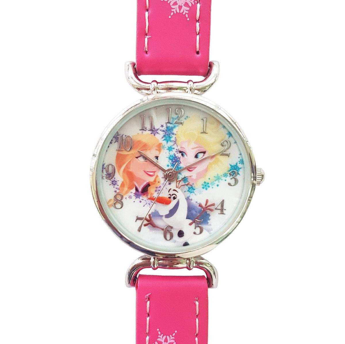 DISNEY FROZEN - Kids wrist watch - Fuchsia color (Licensed by Disney)