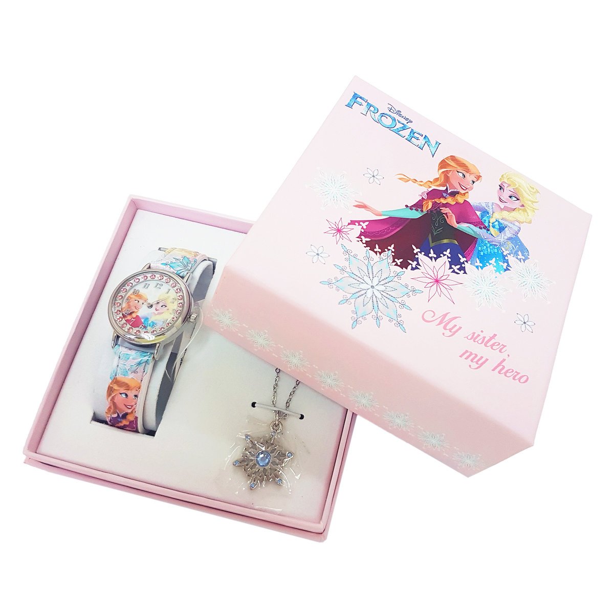 DISNEY FROZEN - Watch & necklace boxset - Pink color (Licensed by Disney)