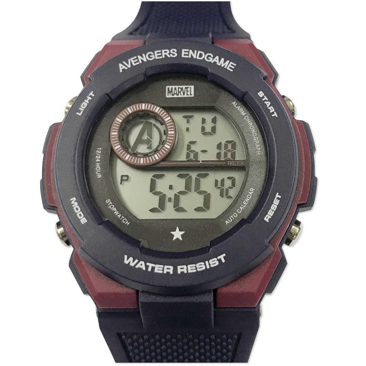 MARVEL - DIGITAL WATCH (BLUE & RED) (Licensed by Disney)