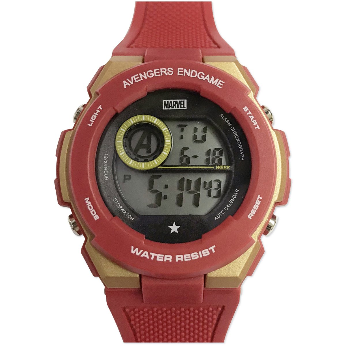 MARVEL - DIGITAL WATCH (RED & GOLD) (Licensed by Disney)
