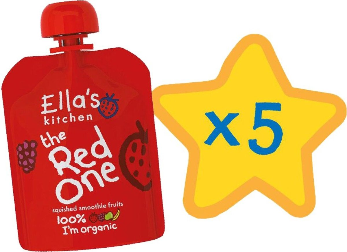 The Red One Smoothie Fruit Singles  (90g x 5) (Expiry Date:30 Oct 2020)