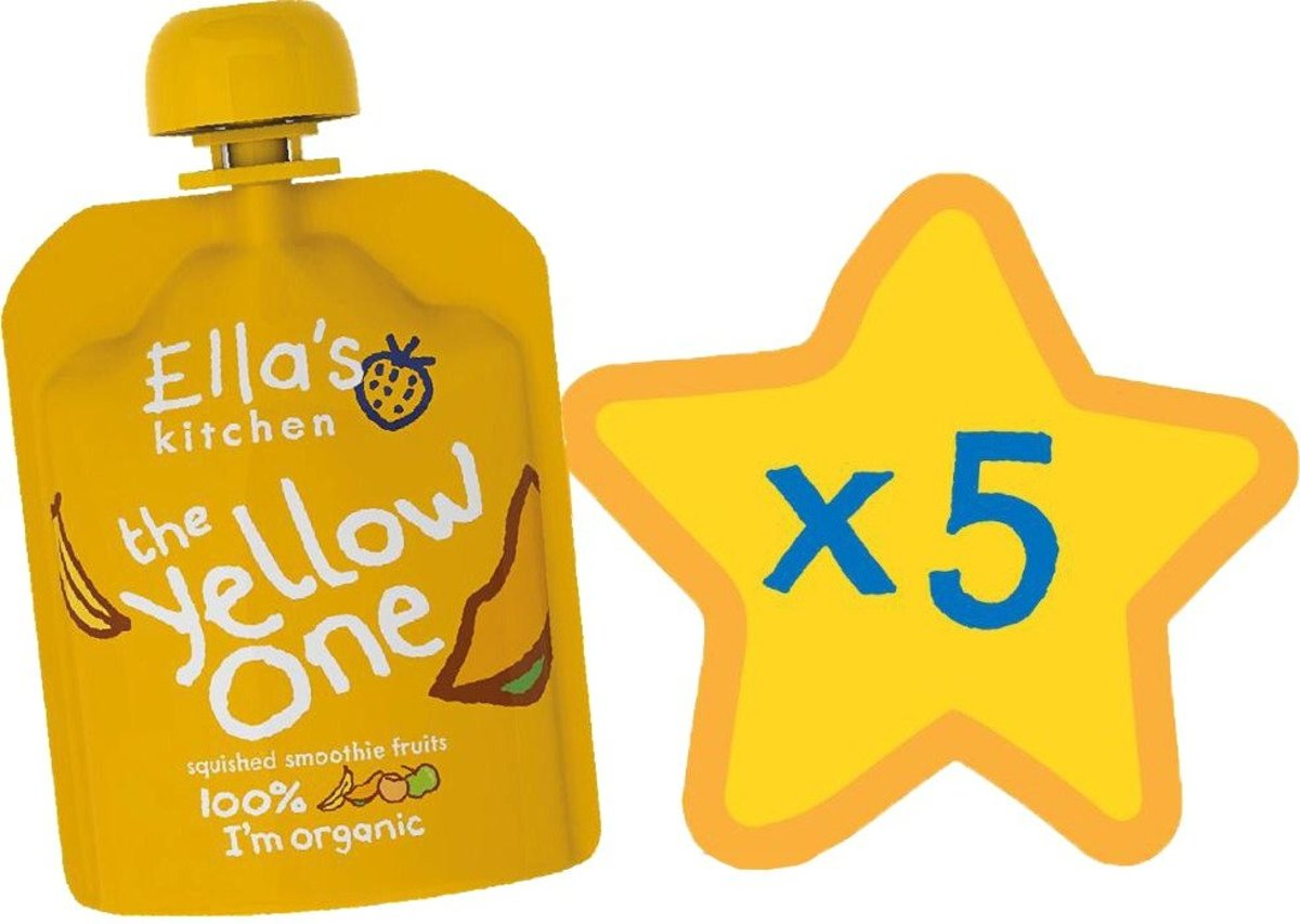 The Yellow One Smoothie Fruit Singles (90g x 5) (Expiry Date:30 Oct 2020)