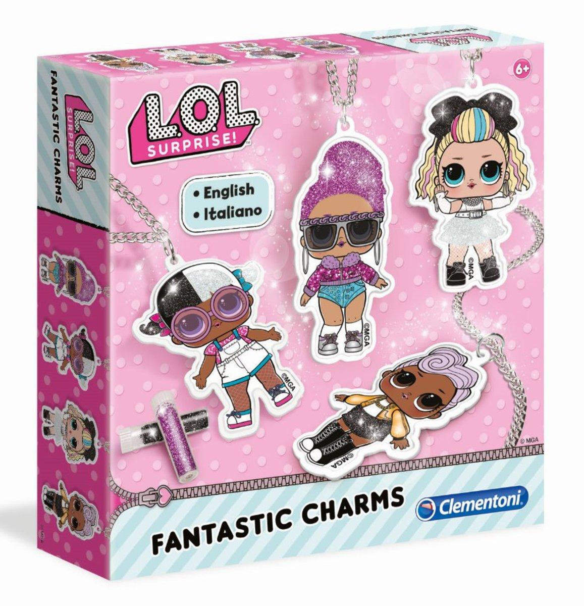 L.O.L. 自製閃粉頸鏈套裝