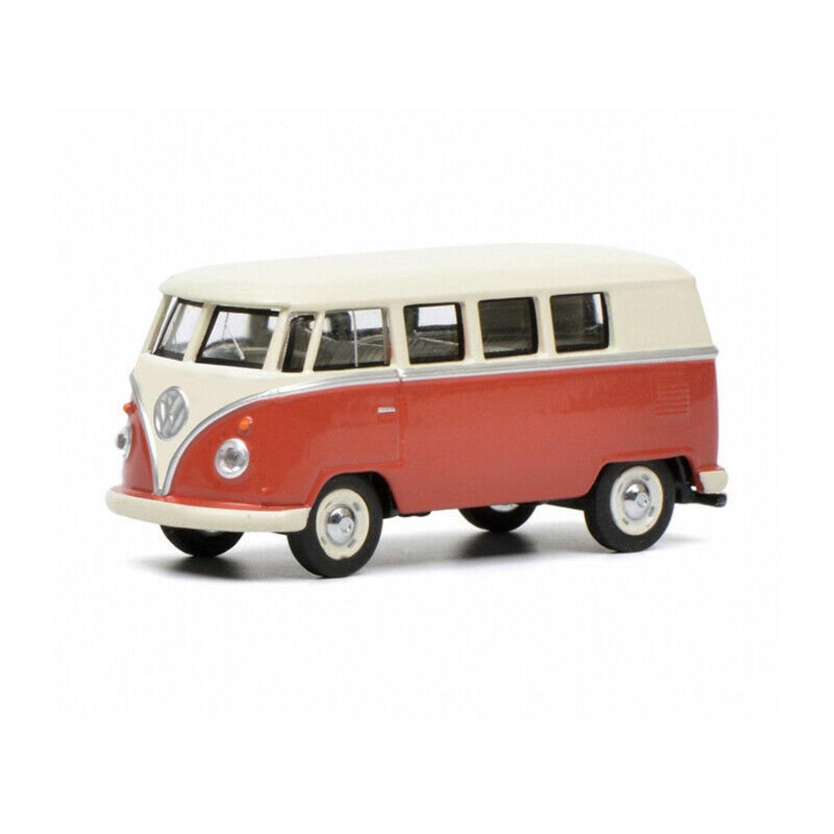 福士T1巴士,紅色/米色1:64