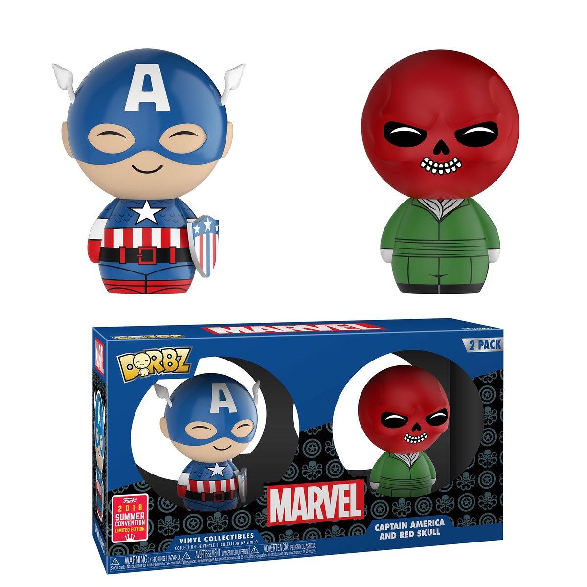 SDCC18 Dorbz:Marvel-2PK-Captain America and Red Skulll [Licensed by Disney]