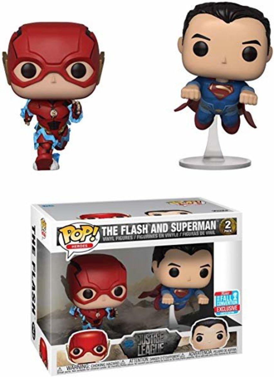 NYCC18 POP Heroes:DC-JL-2PK-The Flash & Superman