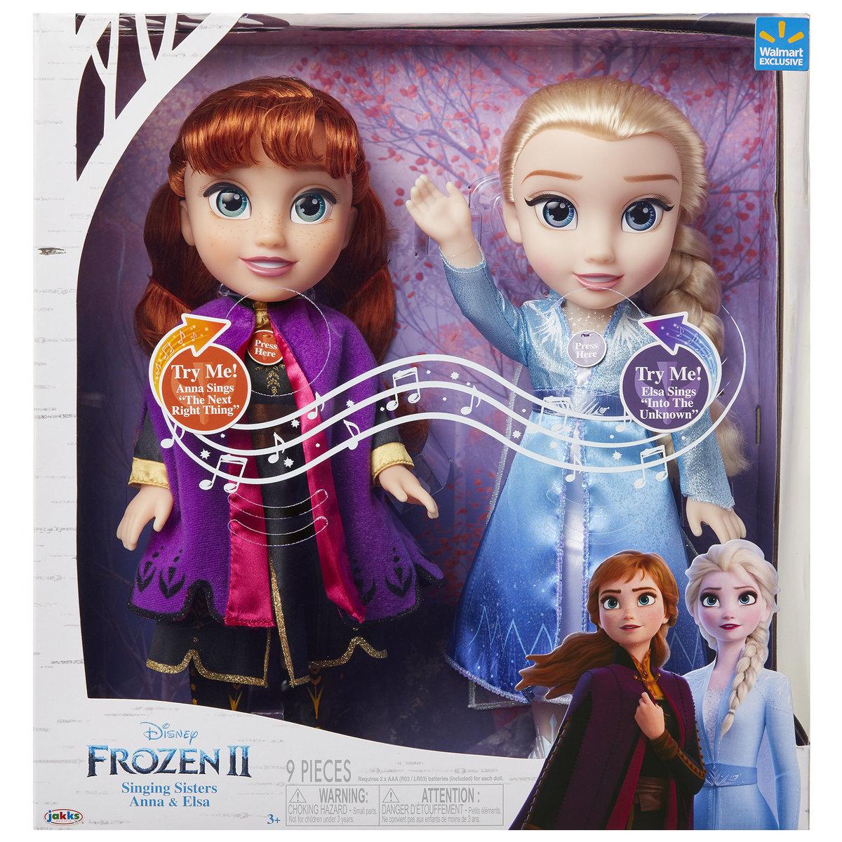 Frozen 2 - Singing Sisters - 2 pack [Licensed by Disney]
