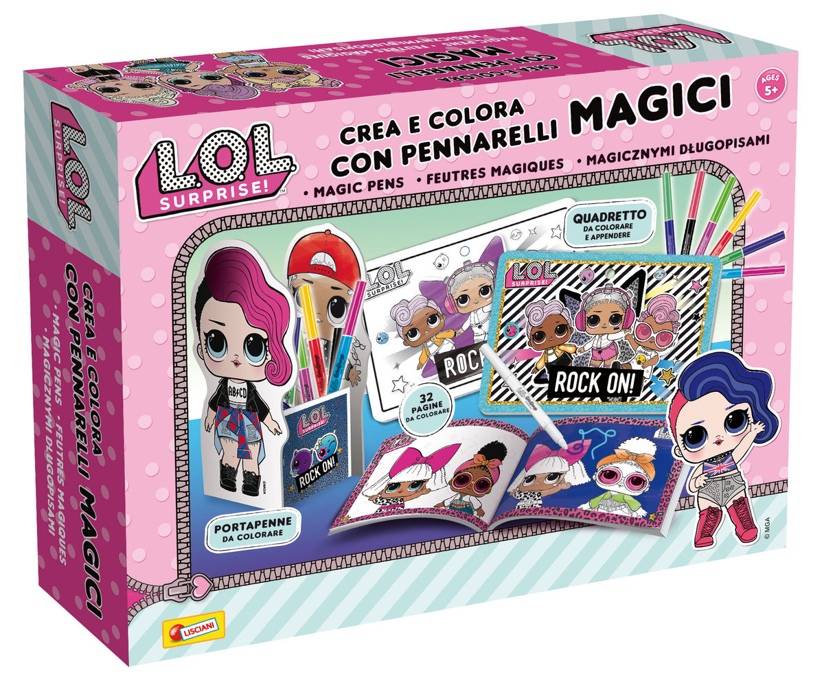 L.O.L. Surprise create and colour with magic pens