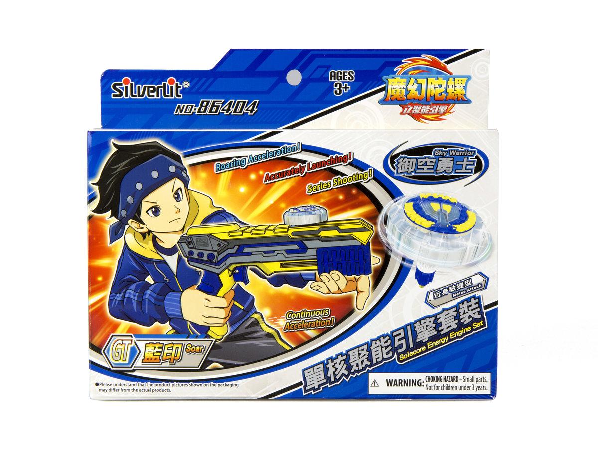 魔幻陀螺4 單核聚能引擎套裝 - 藍印及御空勇士