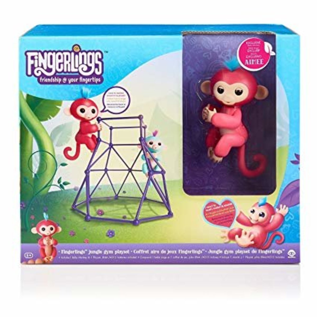 Fingerlings Playset with 1 Monkey- Jungle Gym