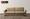 LIBRA II 5032 - 2-Seater Fabric Sofa (Light Brown)