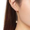 櫻花之戀: 999.9純金琉璃耳環