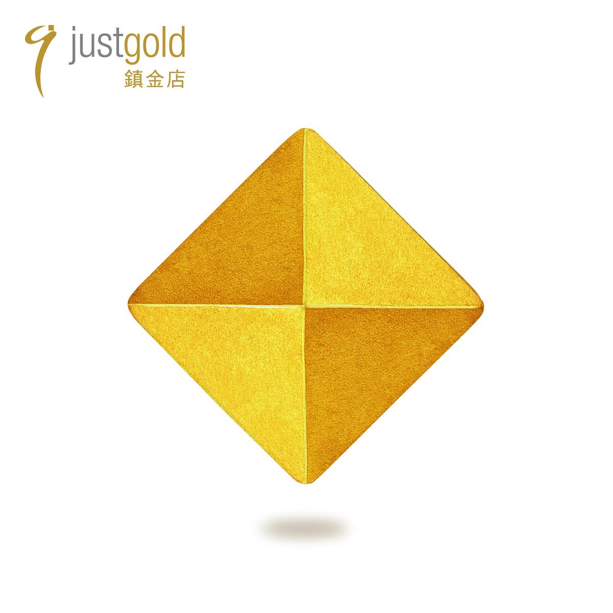 Rock & Roll Stud: 999.9 Gold Single Earring (Small rhombus)