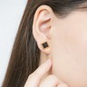 Rock & Roll Stud: 999.9 Gold Glass Single Earring (Small rhombus)