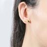 Party Fun Collection: 999.9 Gold Chinese Enamel Single Earring(Gun)