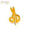 Party Fun Collection: 999.9 Gold Chinese Enamel Single Earring(Scissors)