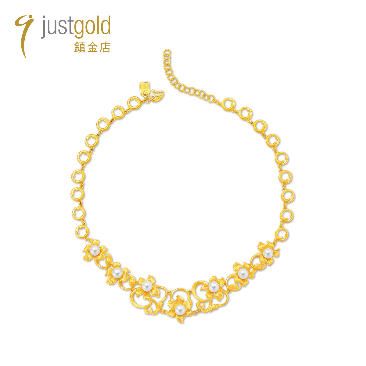 Fragrance Lily Collection: 999.9 Gold Pearl Necklace
