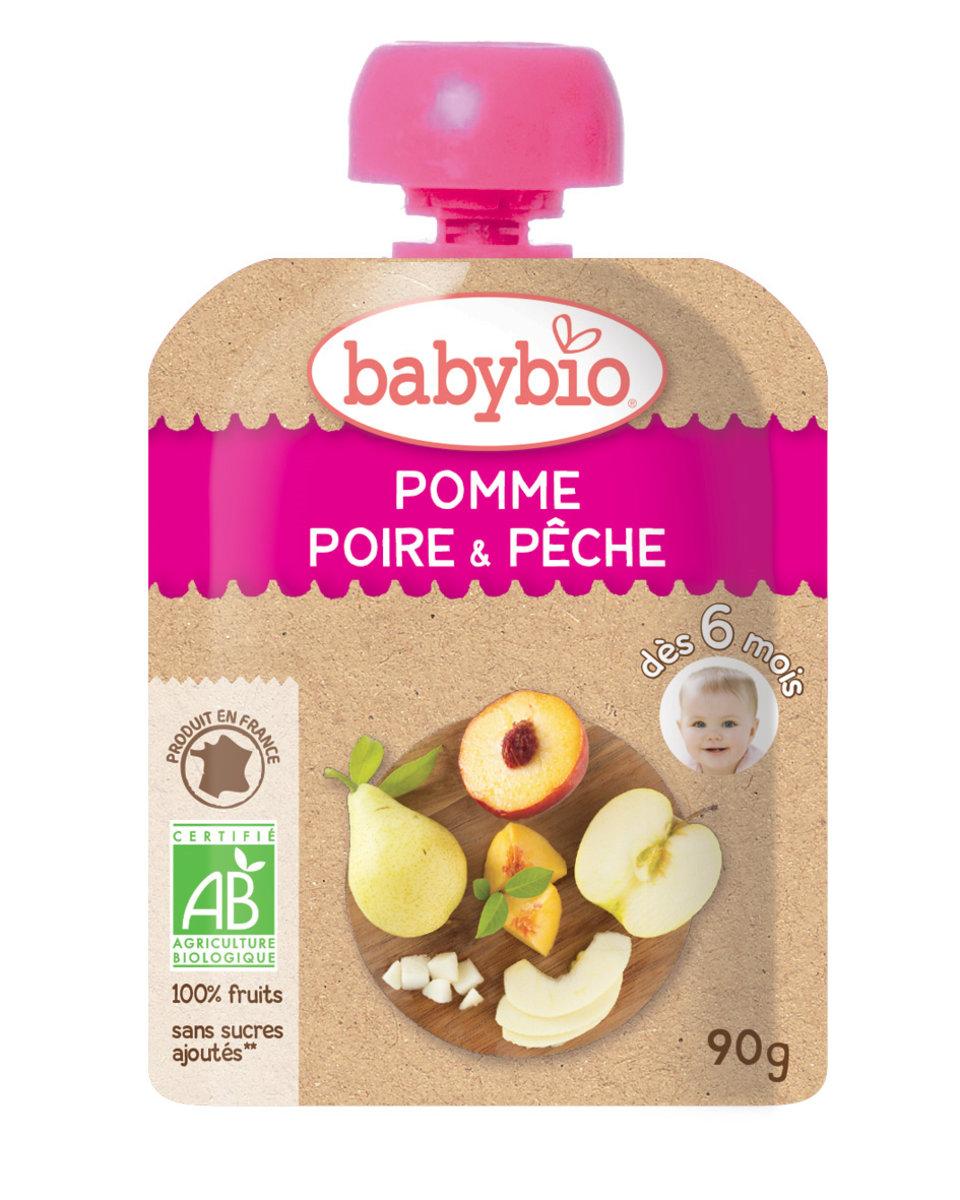 法國有機果蓉 - 啤梨, 水蜜桃, 蘋果