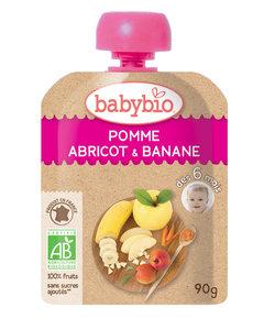 Babybio 法國有機果蓉 - 杏桃, 香蕉,  蘋果 90克
