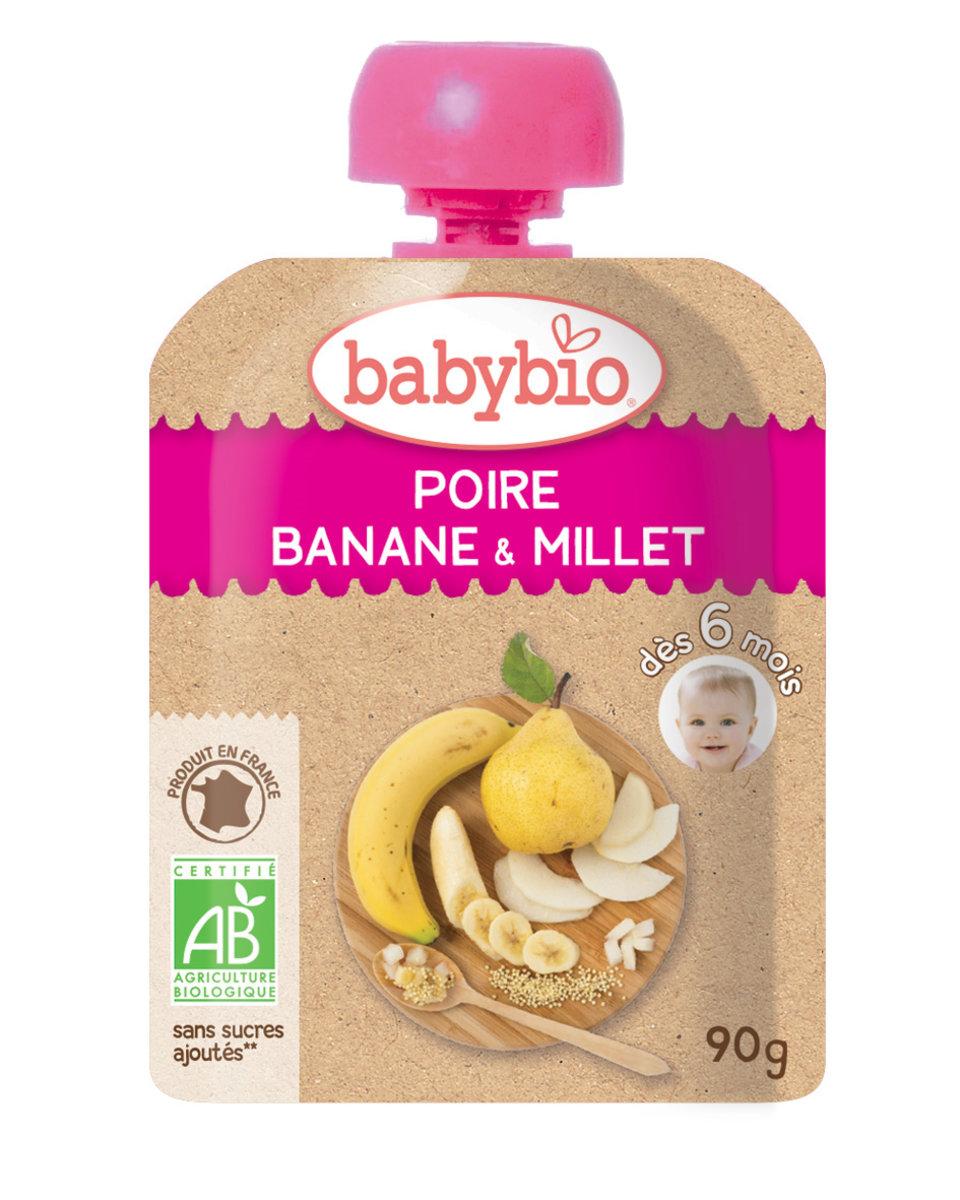 Organic Puree - Pear, Banana, Millet