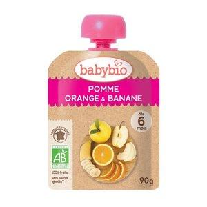 Babybio 法國有機果蓉 - 香橙, 香蕉,  蘋果 90克