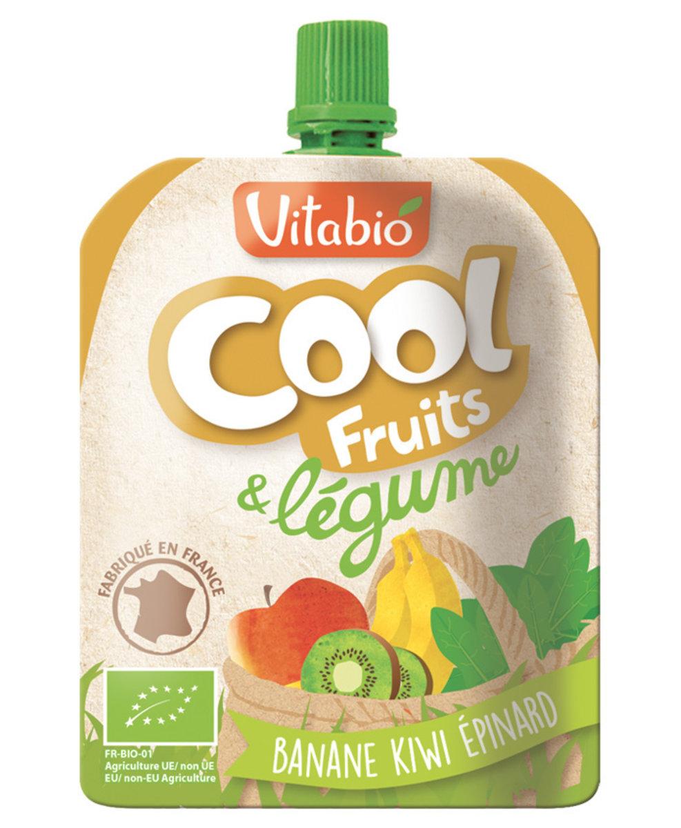 Organic Fruit & Vegetables Puree - Banana, Kiwi, Spinach