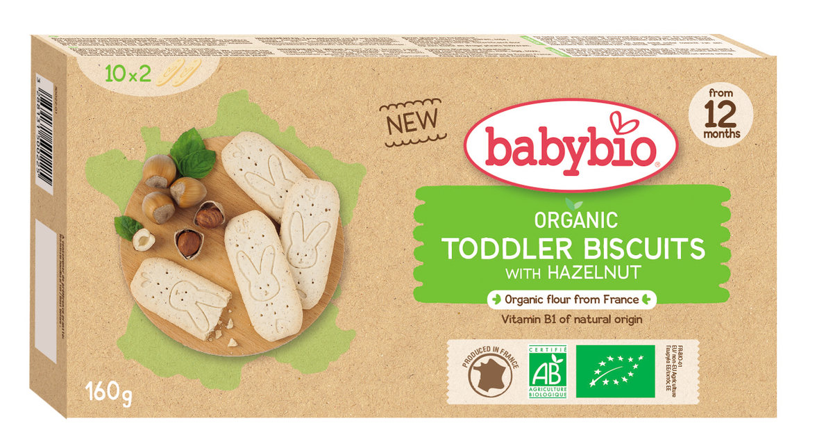 Organic Baby Biscuits with Hazelnut