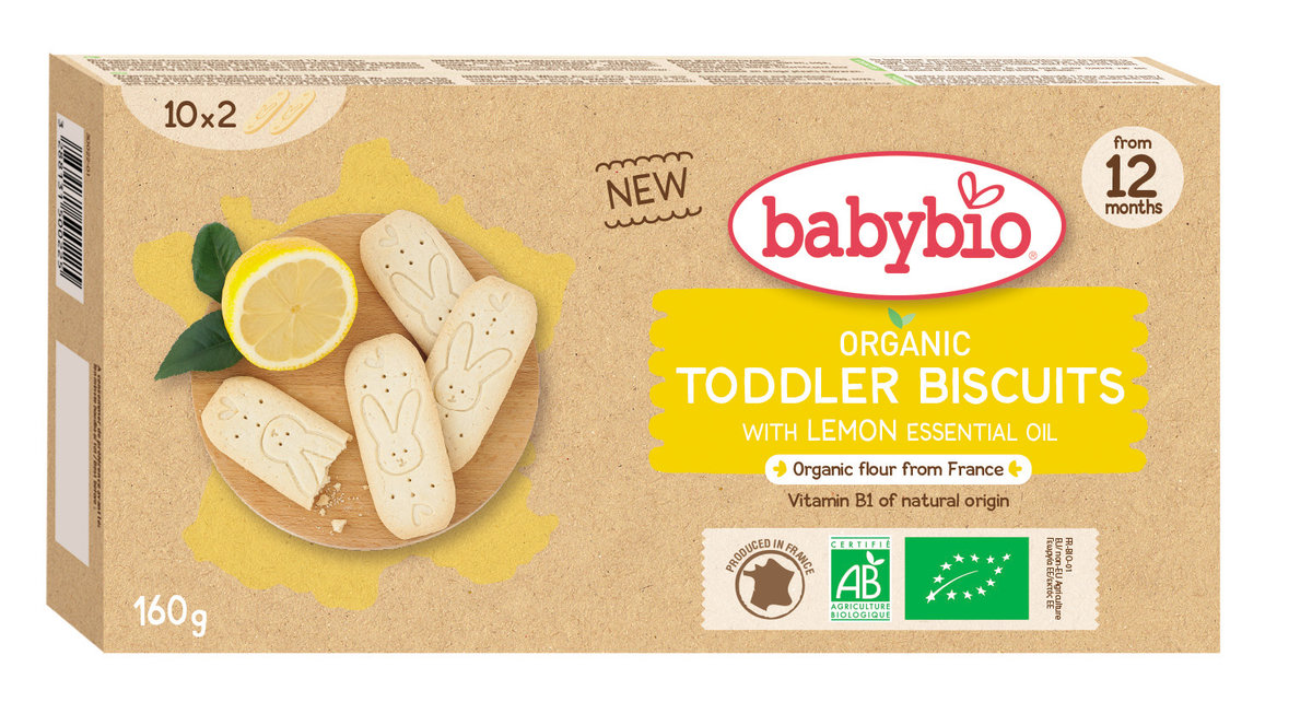 Organic Baby Biscuits with Lemon