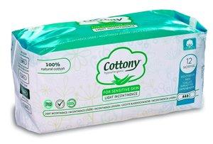 Cottony Natural Cotton Normal Light Incontinence Pads 12pcs