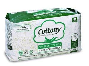 Cottony Natural Cotton Extra Light Incontinence Pads 10pcs