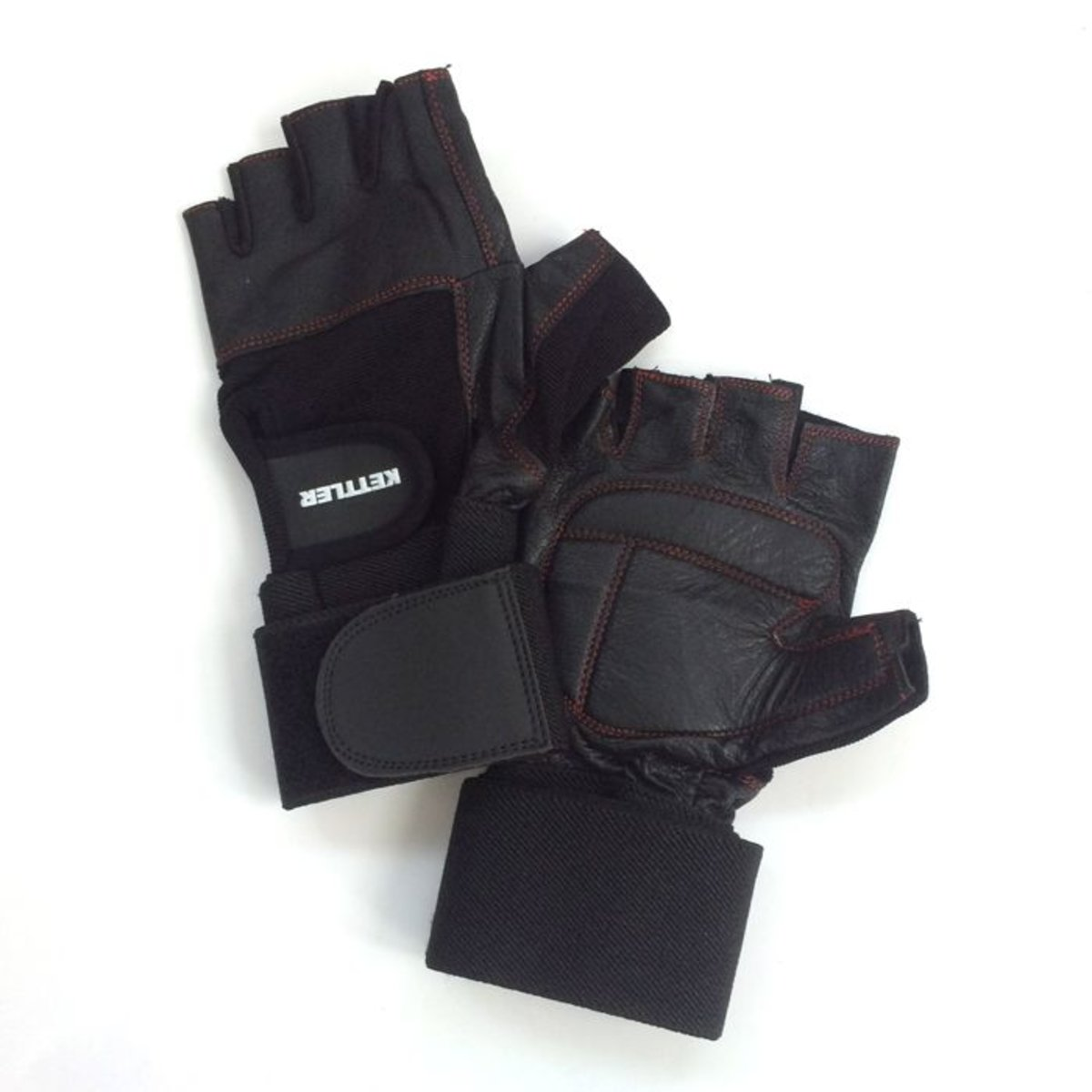 Premium Weight Lifting Gloves with Wrist Strap- Size M