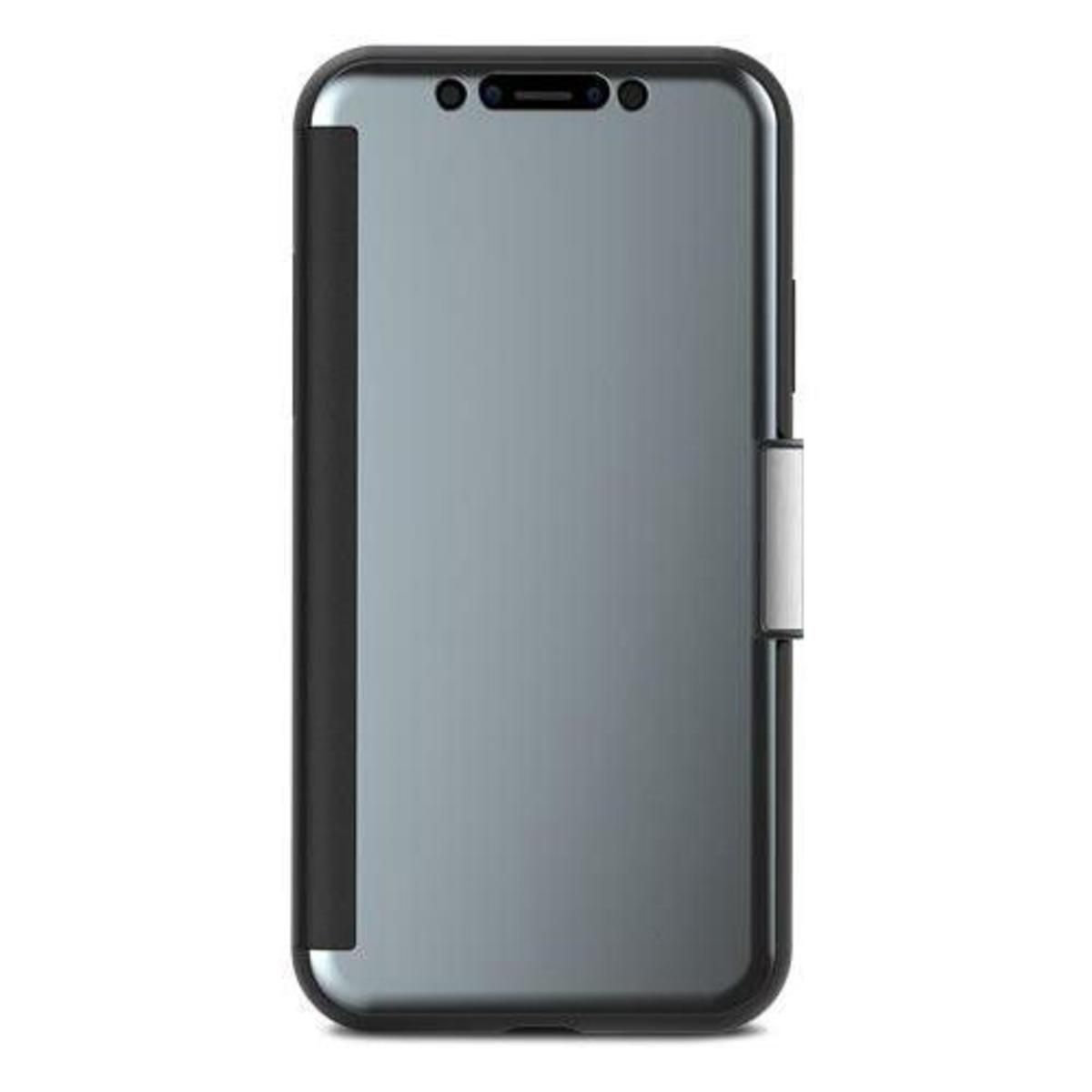 Moshi StealthCover Slim Folio Case with Magnetic Clasp - iPhone X - 灰色