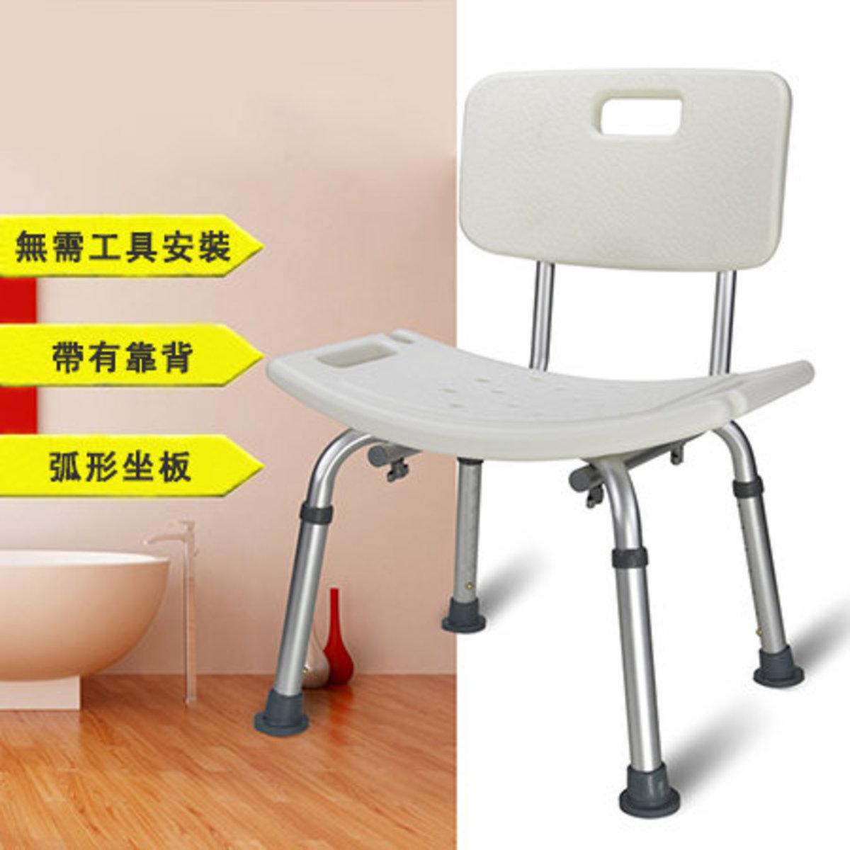 靠背弧形座板沐浴椅 (白色) MR3012
