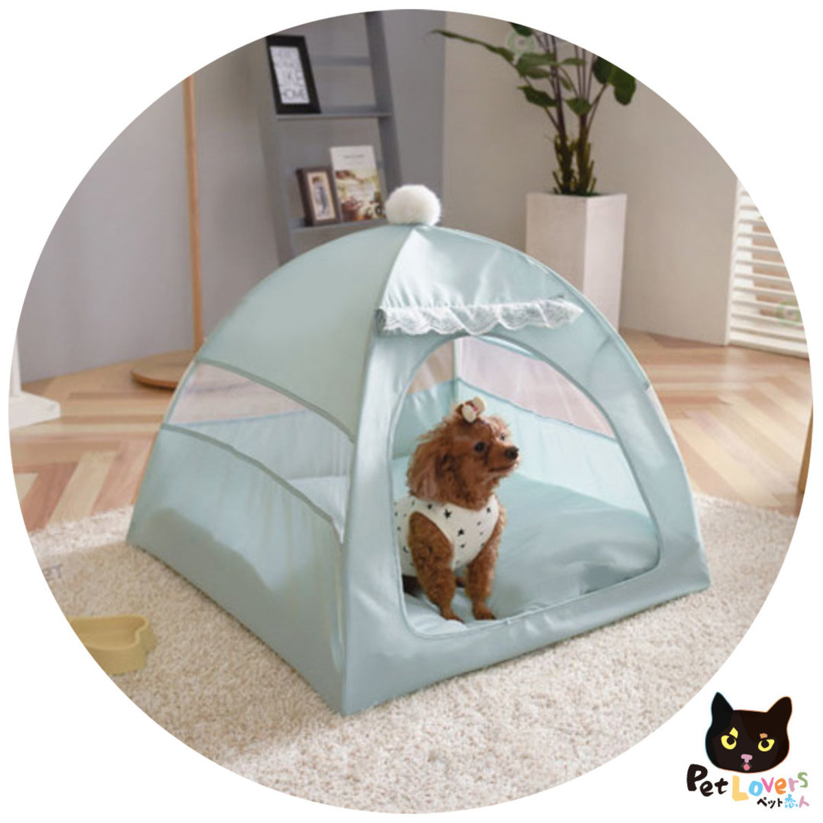 Portable Folding Pet tent Dog House Cage - GREEN