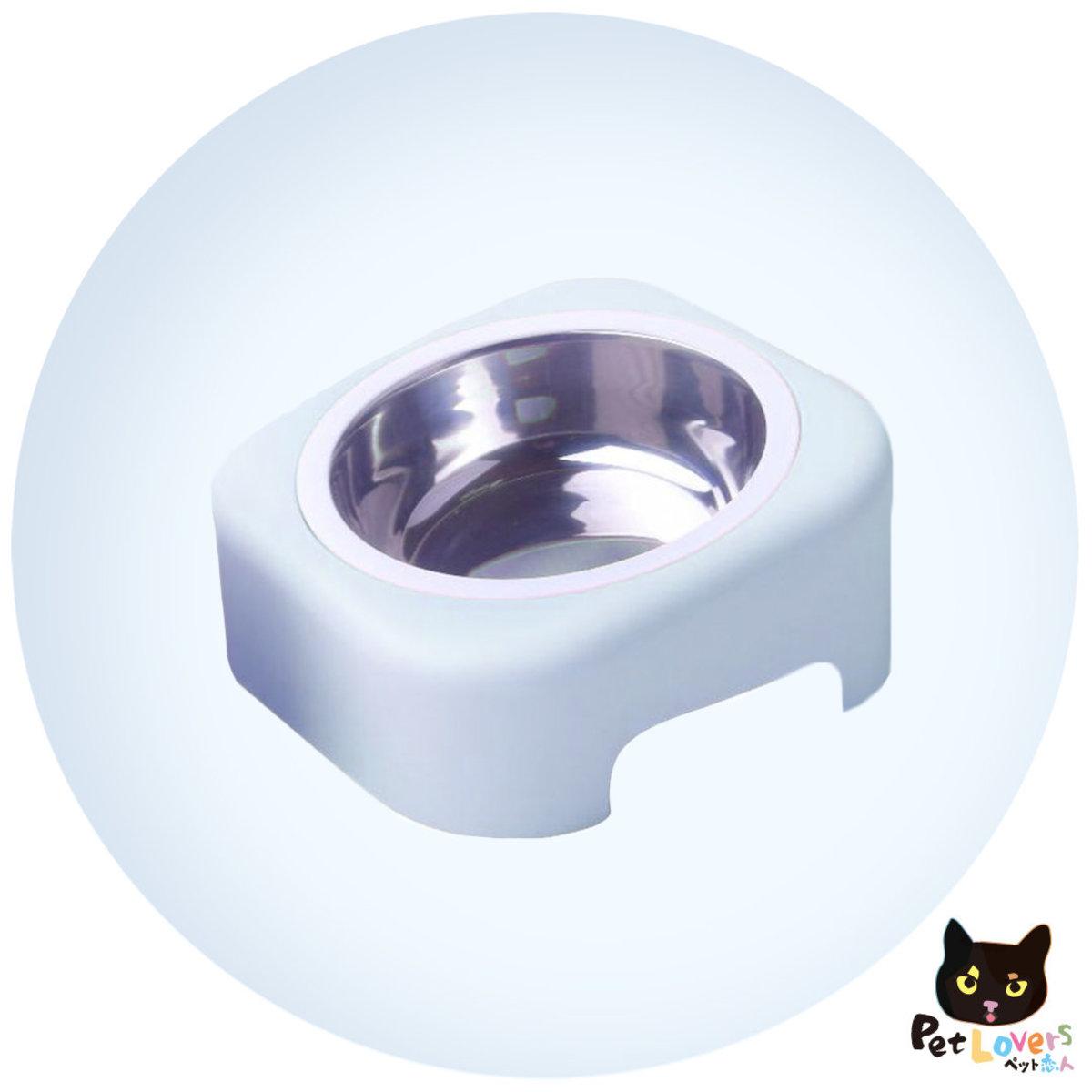 耐用傾斜寵物單碗(粉藍色)