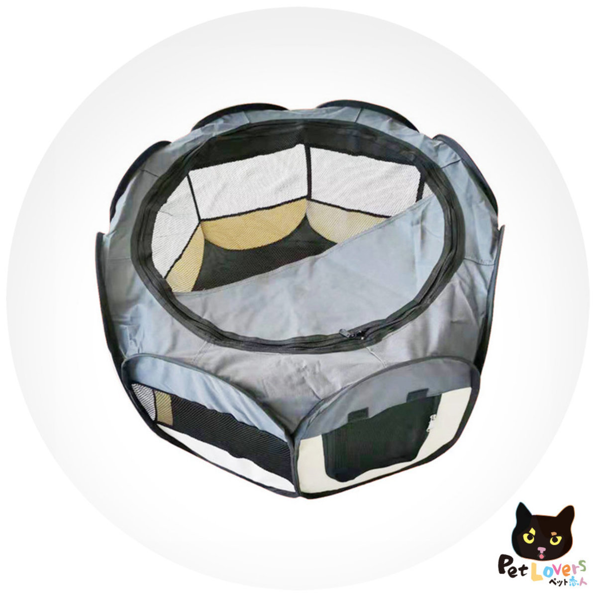 Portable Folding Pet tent Dog House Cage Dog Cat Tent Playpen Puppy Kennel Easy Operation Octagon M
