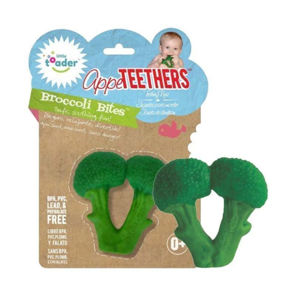 Teething Toys - Soft Silicone Food Shaped BPA Free Teethers (Broccoli Bites)