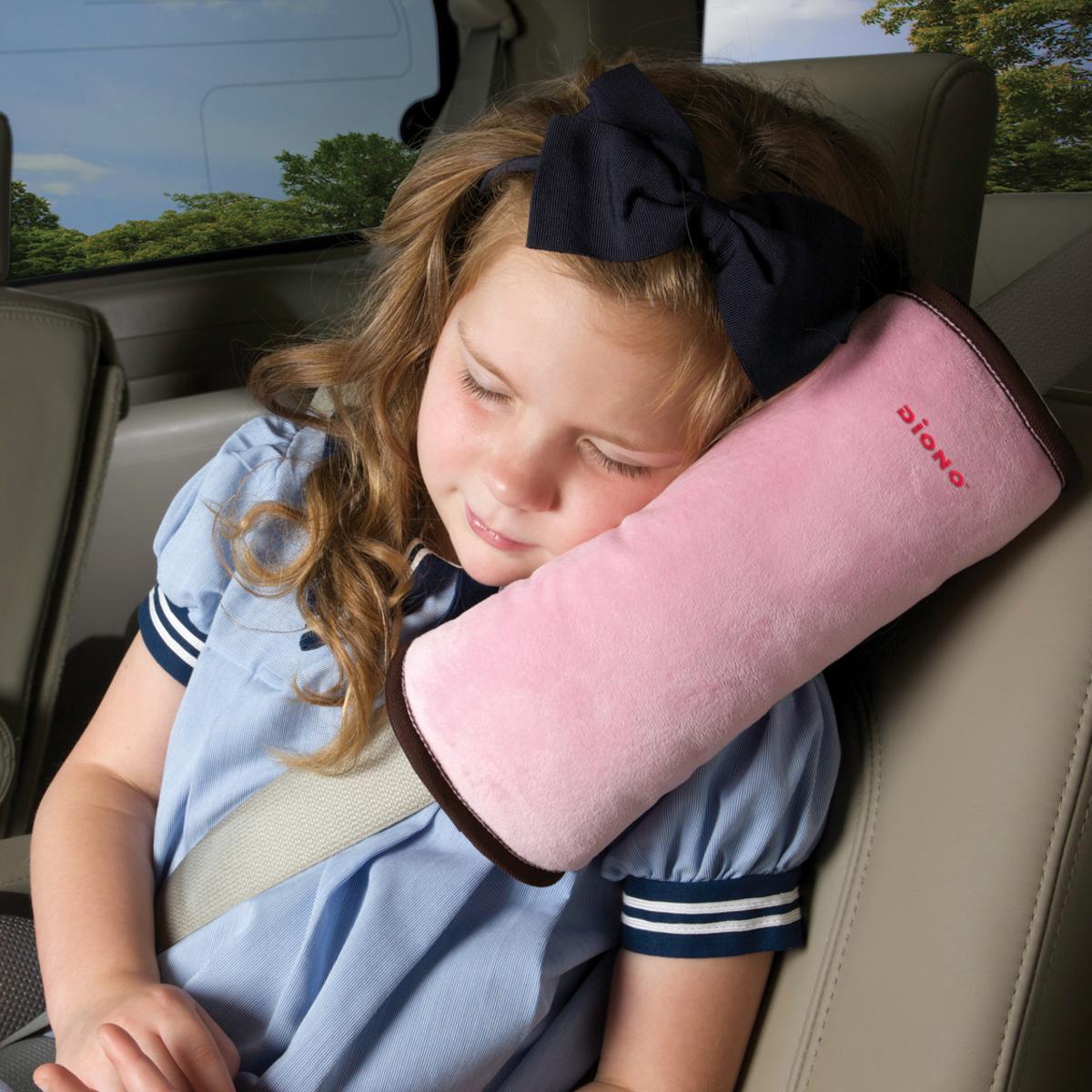 兒童汽車安全帶睡枕 (粉紅)