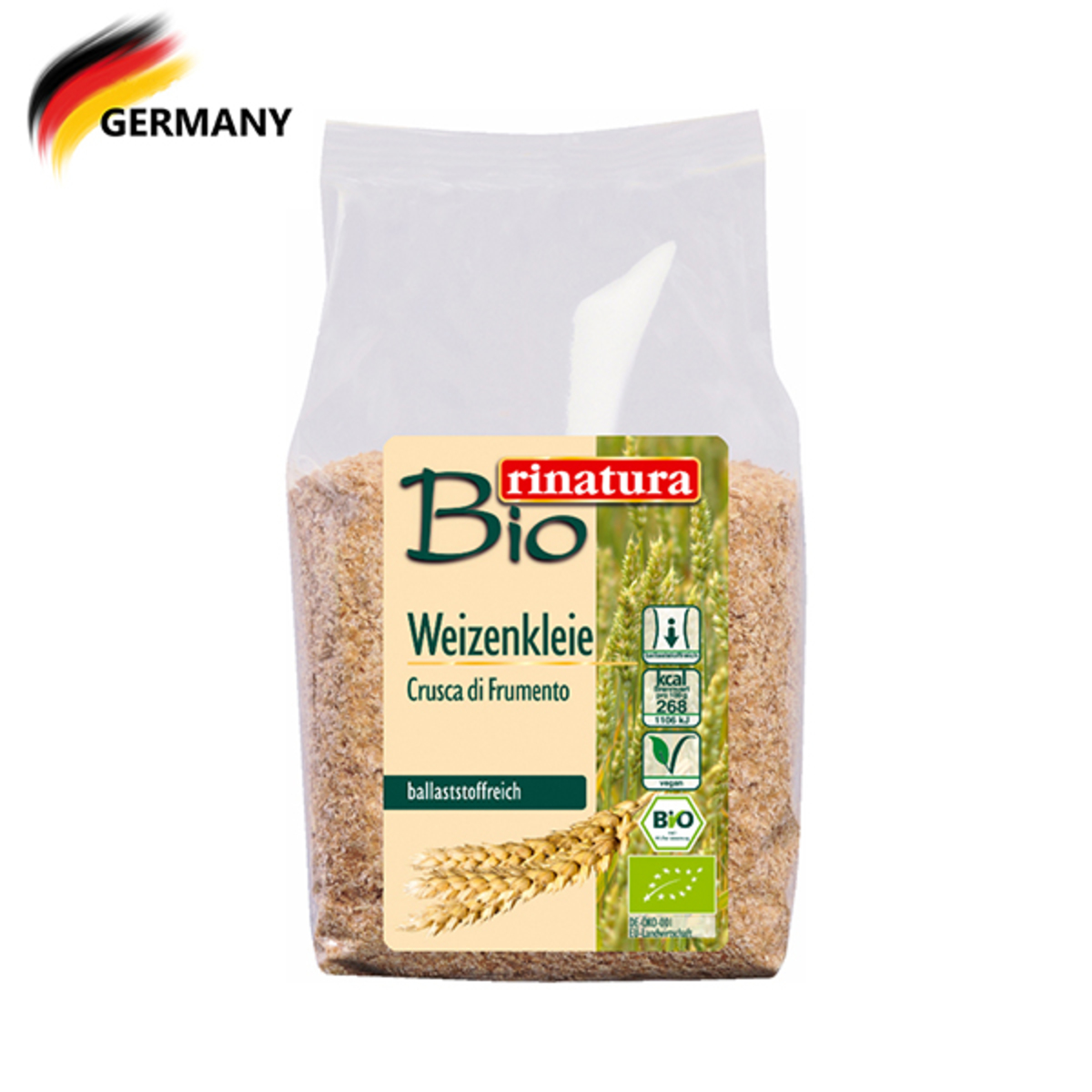 Organic Wheat Bran 250G