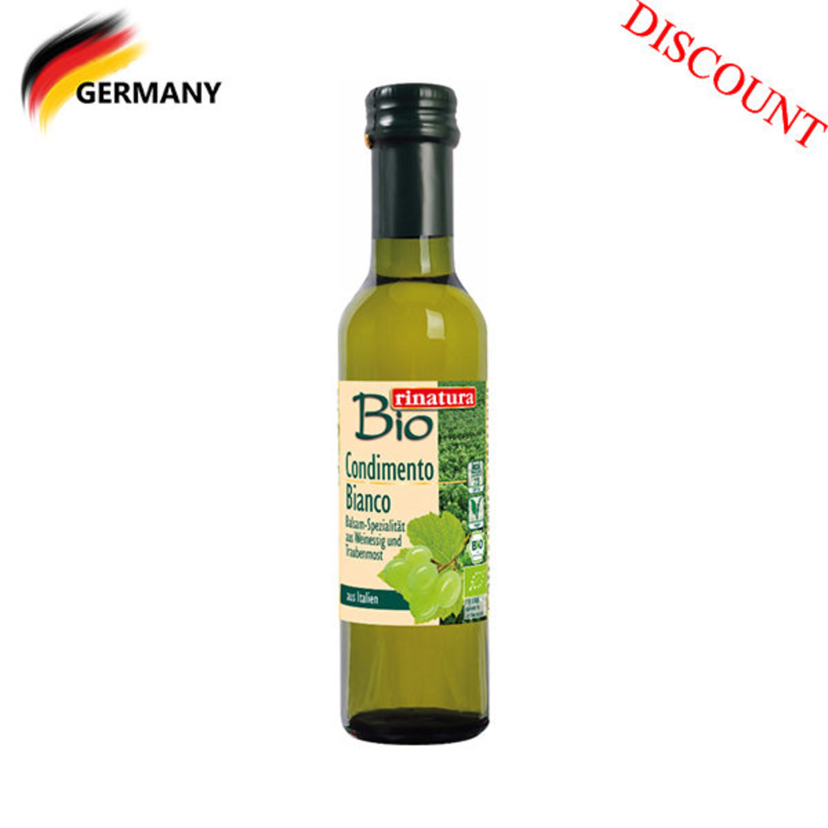 Organic Condiment Balsamico Bianco 250ml (best before date: 18/04/2020)
