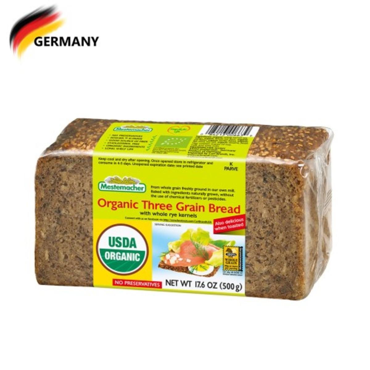 Organic Three Grain Bread 500G